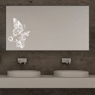 Butterfly Design Badspiegel LED mit Schmetterling Motiv Main