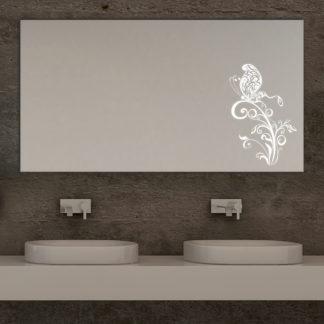 Butterfly II Design Badezimmerspiegel LED mit Schmetterling Main