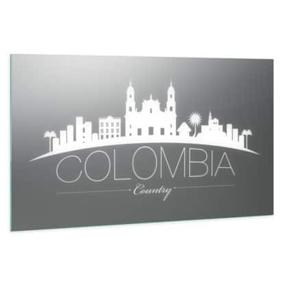 Colombia Skyline: LED Wandspiegel mit Skyline Motiv